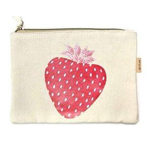 Eco Zipper Pouch Strawberry  Printed  Organizer